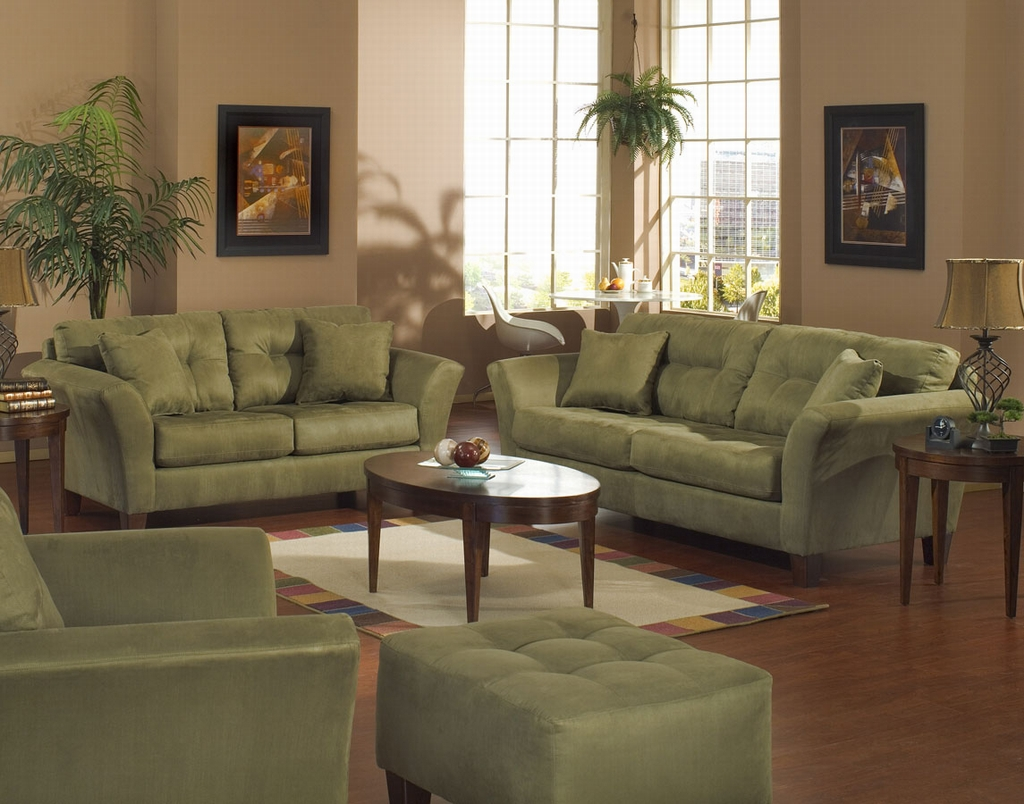 Green sofa style architecture interior design for Living room ideas furniture