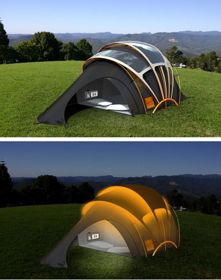 Orange solar tent concept